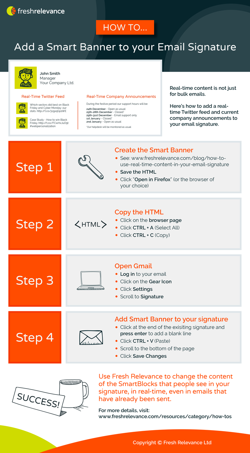 Add Email On Gmail how to add dynamic content to your email signature | fresh